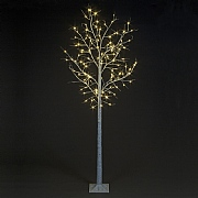 1.8m Pre-Lit LED Birch Tree