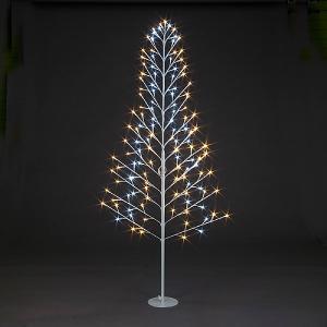 18m pre lit led flat tree