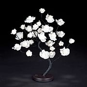 45cm Warm White LED Rose Tree