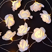 20 Warm White LED Rose Lights