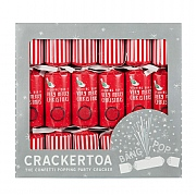 Crackertoa Merry Christmas Confetti Popping Christmas Crackers