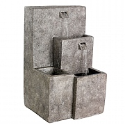 Tiered Springs Fountain Stonewash 40x42x70cm