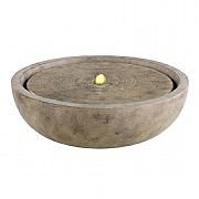 Granite Bowl Fountain Antique Beige 47x23cm