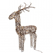 Lumineo Outdoor Pre Lit LED Wicker Reindeer (Large)