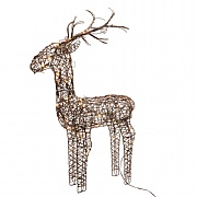 Lumineo Outdoor Pre Lit LED Wicker Reindeer (Small)