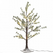 Lumineo 90cm Pre Lit LED Snowy Pine Tree