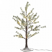 Lumineo 150cm Pre Lit LED Snowy Pine Tree