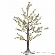 Lumineo 210cm Pre Lit LED Snowy Pine Tree