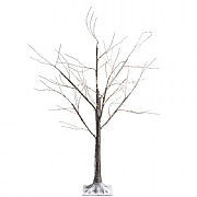 Lumineo Large Pre Lit LED Brown Birch Tree