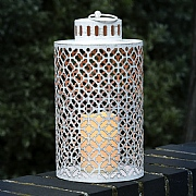 Faro Cream Battery Operated Candle Lantern