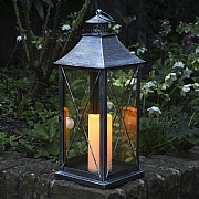 Madison Pewter Battery Operated Candle Lantern