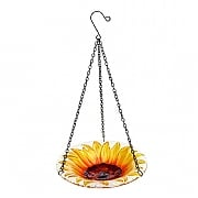 Gardman Sunflower Hanging Glass Bird Bath