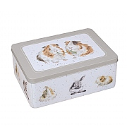 Wrendale Guinea Pig & Rabbit Rectangular Tin