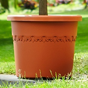 Elho Algarve Cilindro Planter with Wheels 48cm