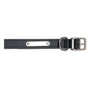 Ancol Black Sewn Dog Collar - 6 Sizes