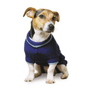 Muddy Paws Cable Knit Sweater (Blue) - 4 Sizes