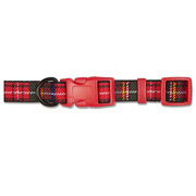 Ancol Red Tartan Adjustable Dog Collar - 3 Sizes