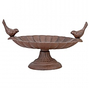 Fallen Fruits Bird Bath with 2 Birds