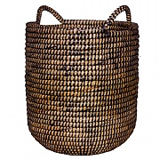 Black Woven Basket Planter - Various Sizes
