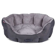 Scruffs Graphite Cashmere Donut Dog Bed