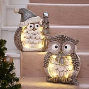 Christmas Owl LED Ornaments - Various Designs