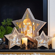 Wooden Star LED Diorama