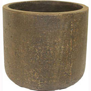 Cadix Terrazzo Elements Brown Cylinder Pot