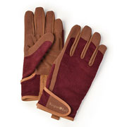 Burgon & Ball Dig The Glove Burgundy Corduroy Gardening Gloves