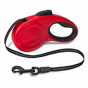 Halti Retractable Tape Lead Red
