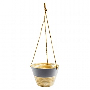 Hanging Bamboo Planter Grey - Various Sizes