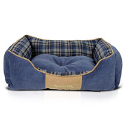 Scruffs Blue Highland Box Bed - Various Sizes