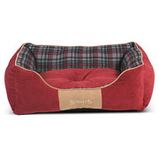 Scruffs Red Highland Box Bed - Various Sizes