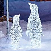 White LED Jewelled Penguin Figure - 2 Sizes