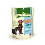 James Wellbeloved Crackerjacks Dog Treats Duck 225g