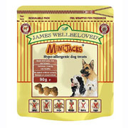 James Wellbeloved Minijack Dog Treats - 90g