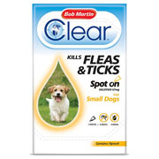 Bob Martin Clear Fleas & Ticks Spot On for Small Dogs