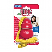 Kong Classic Dog Toy With Rope - Various Sizes