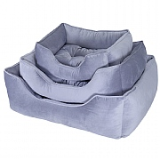 Rosewood Luxury Silver Velvet Dog Bed - 3 Sizes