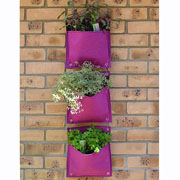 VegTrug Living Wall Felt 3 Pockets Planter