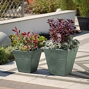 Piazza Square Planter Granite - 2 Sizes Available