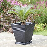 Piazza Square Planter Marble Green - 2 Sizes Available