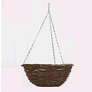 Smart Garden Rattan Hanging Basket - Various Sizes
