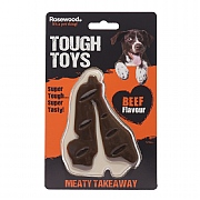 Rosewood Tough Toys Meaty Beef Flavour Takeaway Steak