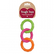 Rosewood Tough Toys Multi-Colour Rings