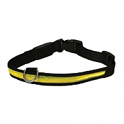 Rosewood Yellow Premium Flashing Dog Collar