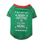 Novelty Christmas T-Shirt For Dogs