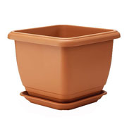 Terracotta Self Watering Balconniere Square Planter - 3 Sizes