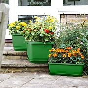 Green Self Watering Balconniere Trough - 2 Sizes