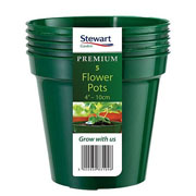 Green Premium Flower Pot Multi-Pack - Various Sizes