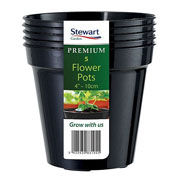 Black Premium Flower Pot Multi-Pack - Various Sizes